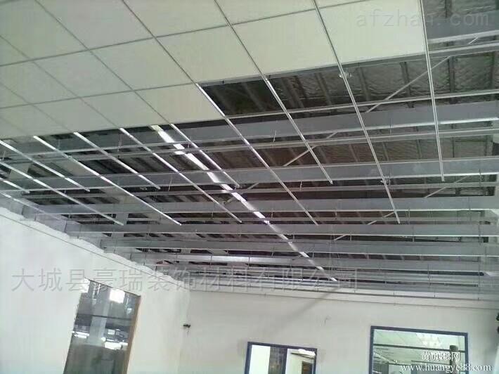 生产平贴岩棉吸音天花板饰面平滑而不聚尘