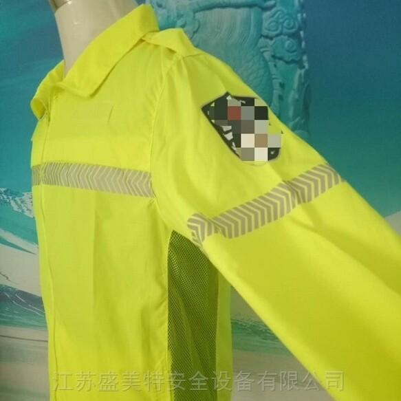 交巡警熒光黃夏季執勤防曬服反光防曬皮膚衣