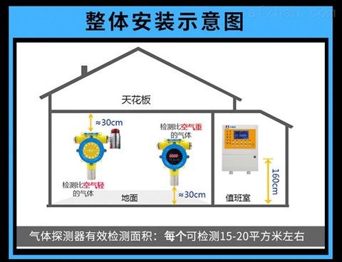 壁挂式溴甲烷泄漏报警器
