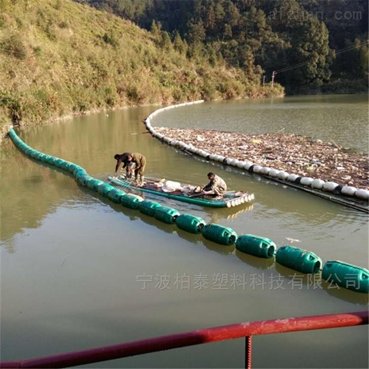 海湾拦截水面垃圾用塑料浮筒
