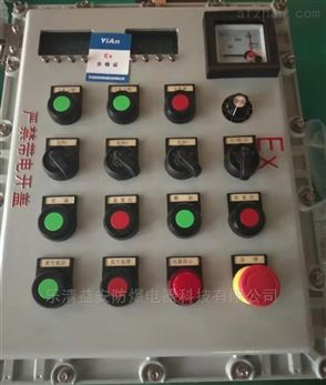 乐清益安防爆电流表显示控制操作柱厂家
