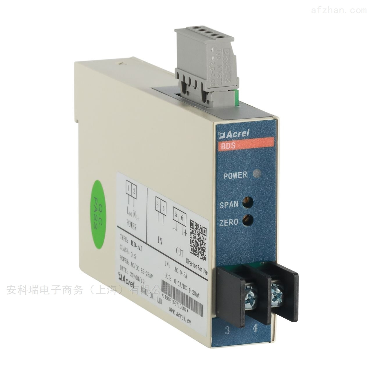 上海安科瑞单相交流电流变送器输出