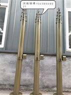 15米碳纤维通讯照明升降杆可移动升降避雷针