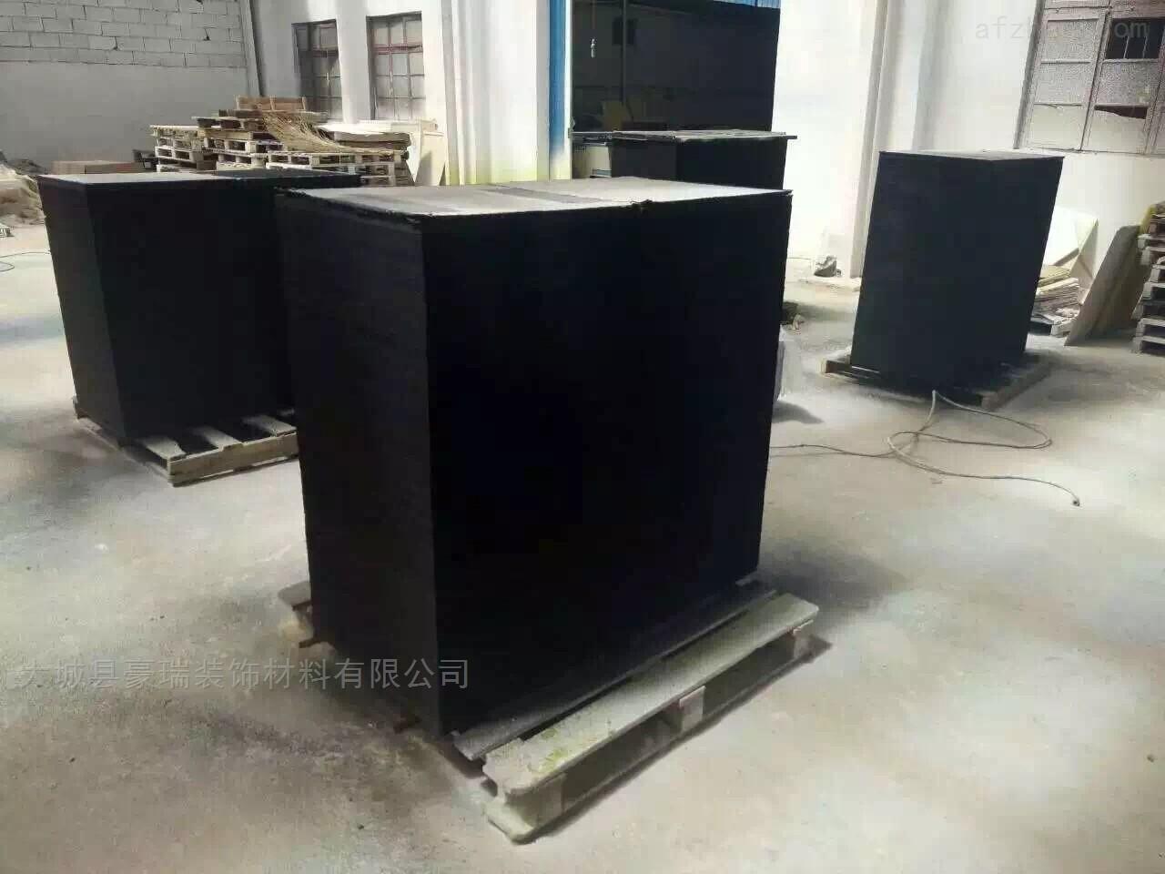 黑色装修吊顶材料 岩棉玻纤吸音板