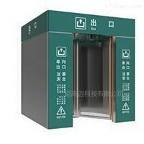 旅客通行速度自控门-不锈钢电动旋转门