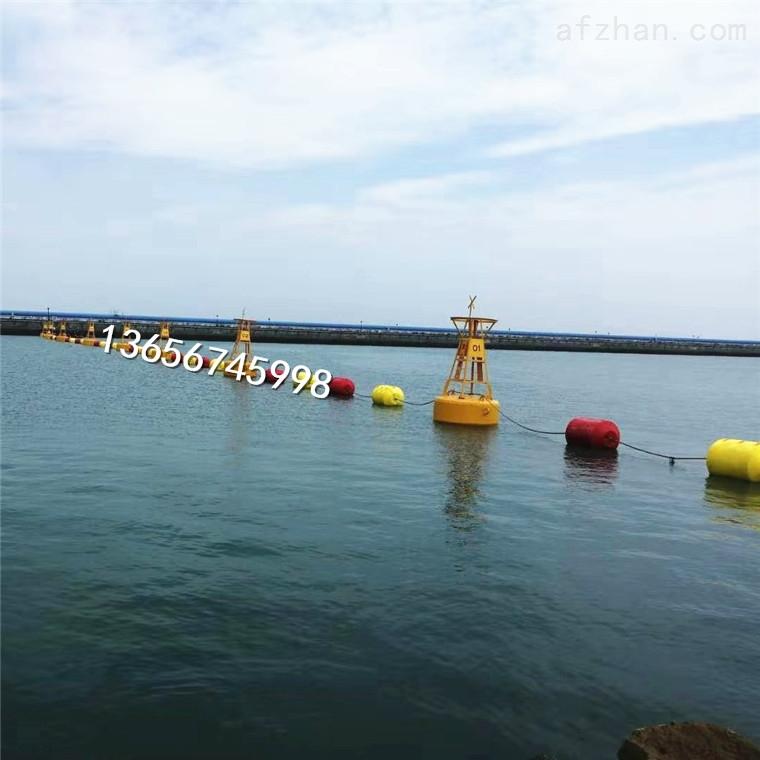 水上桔红色警示拦河浮筒