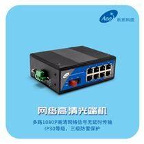2路導軌式百兆網絡光端機