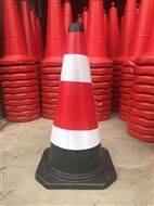 橡胶圆锥 68cm高警示路锥 商场公路警示锥
