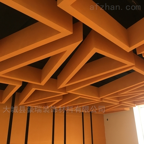 上海彩色岩棉玻纤板异形吸声体独特造型