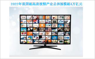 2022年我國超高清視頻產業總體規模超4萬億元