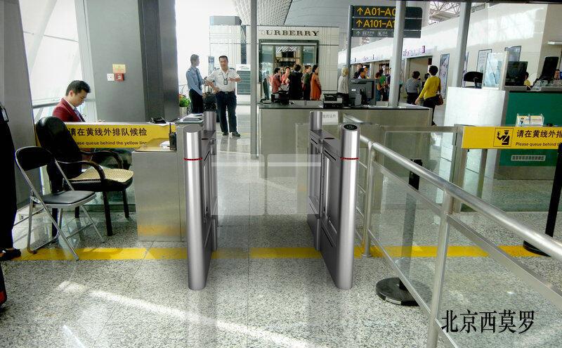 機場通道閘機系統安裝案例