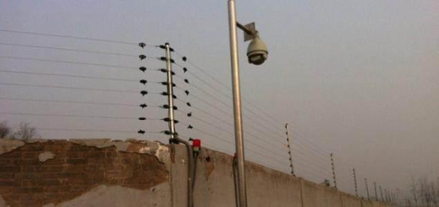 上海客欧安防-周界报警探测器与监控联动现场图-周界报警探测器系列产品