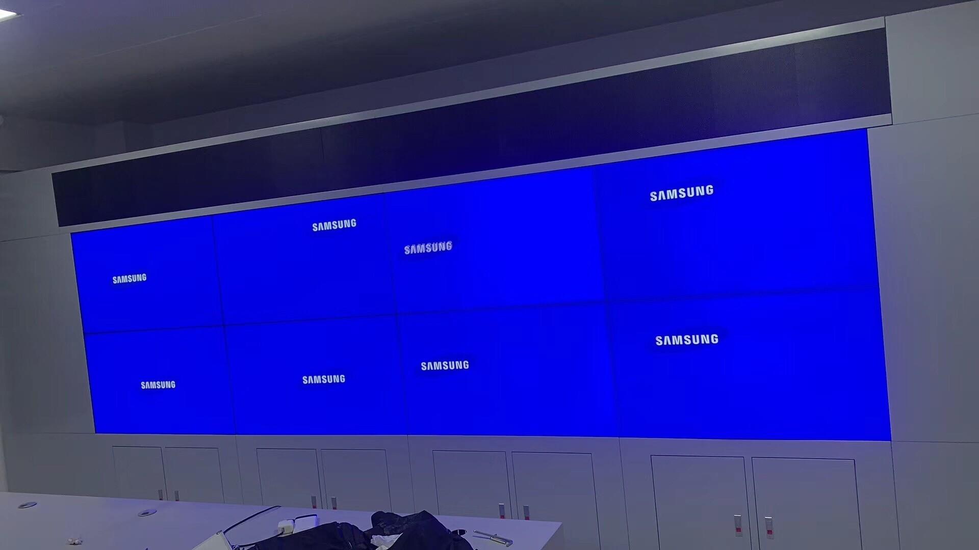 三星55寸液晶电视_三星55寸1.7mm拼缝液晶拼接屏数字展厅电视墙/视频会议/监控