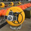 张家港航道用警示禁航浮标抬缆浮